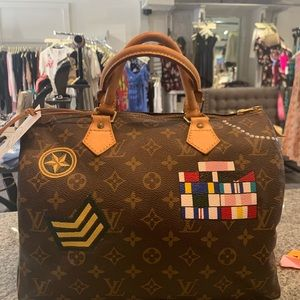 Louis Vuitton speedy 30 new vintage hand painted